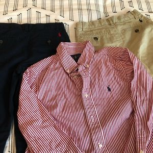 Boys  Ralph Lauren two pants and shirt .